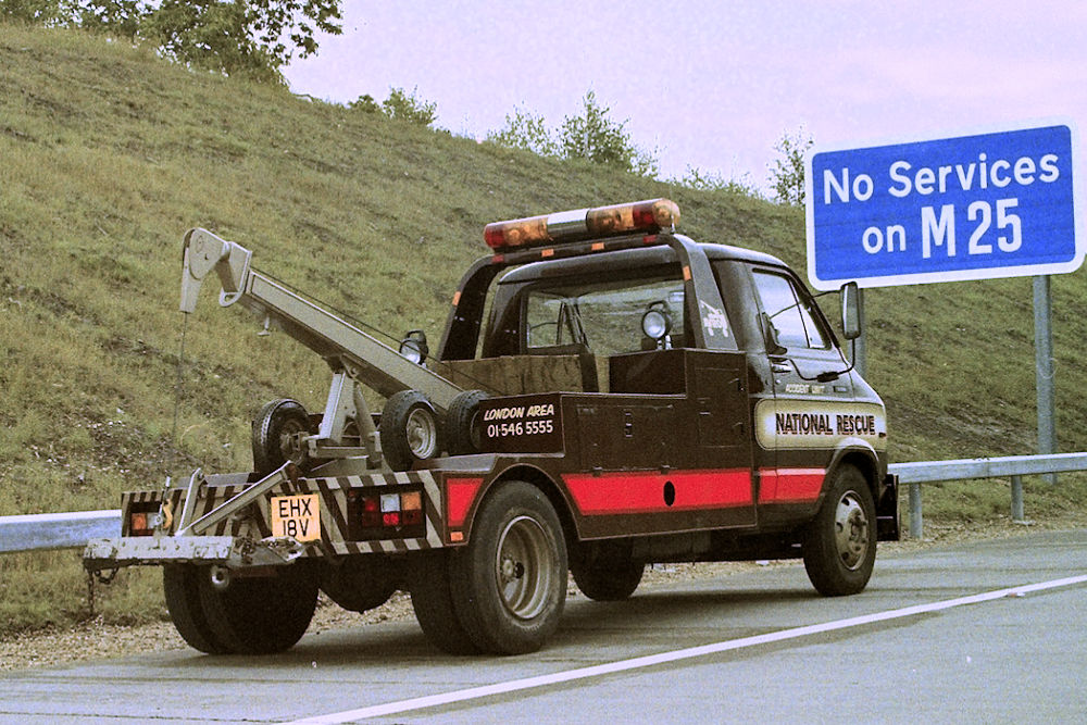 Recovery Vehicle on the Motorway